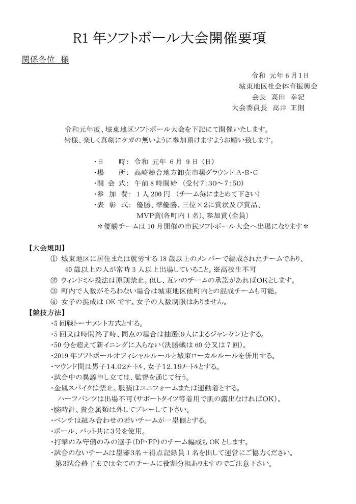 2019 ソフトボール開催要項 .jpg